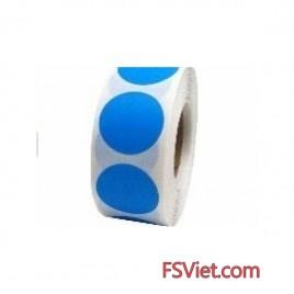 Decal tròn màu xanh Blue 3cm có bề mặt bóng